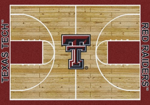 Texas Tech Red Raiders College Home Court Area Rug