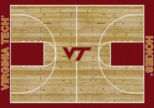 Virginia Tech Hokies College Home Court Area Rug