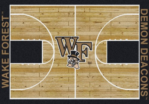 Wake Forest Demon Deacons College Home Court Area Rug