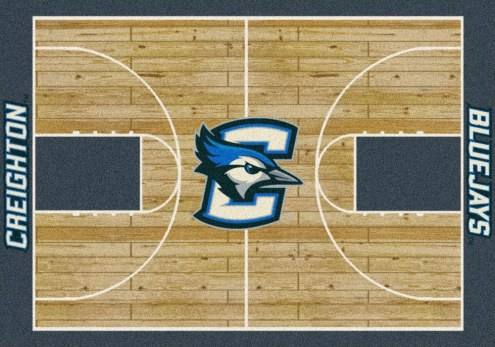 Creighton Bluejays College Home Court Area Rug