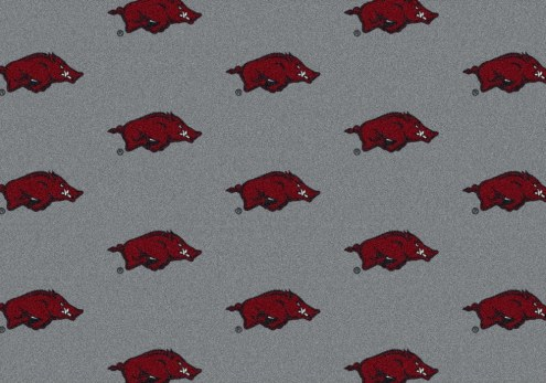 Arkansas Razorbacks College Repeat Area Rug