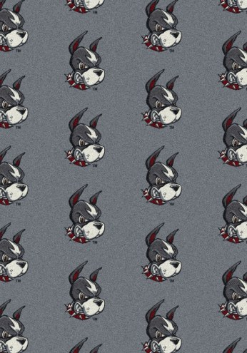 Boston Terriers College Repeat Area Rug