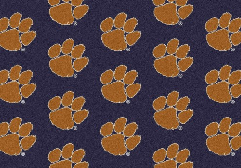 Clemson Tigers College Repeat Area Rug