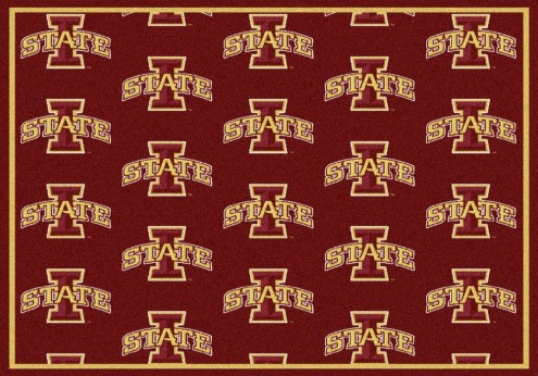Iowa State Cyclones College Repeat Area Rug