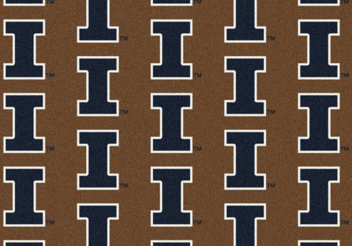 Illinois Fighting Illini College Repeat Area Rug