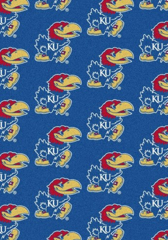 Kansas Jayhawks College Repeat Area Rug