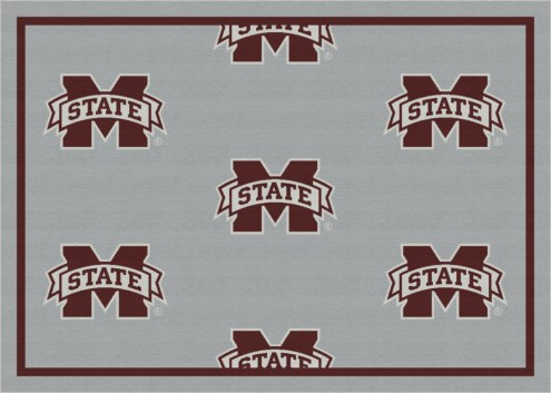 Mississippi State Bulldogs College Repeat Area Rug