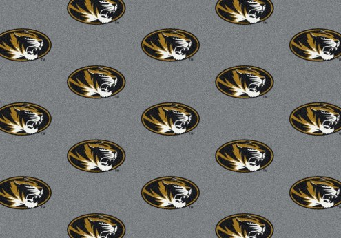 Missouri Tigers College Repeat Area Rug