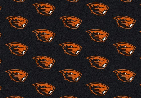 Oregon State Beavers College Repeat Area Rug