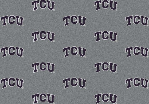 Texas Christian Horned Frogs College Repeat Area Rug