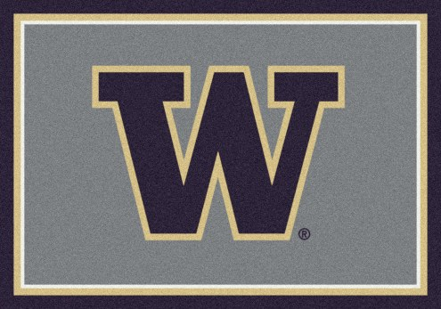Washington Huskies College Team Spirit Area Rug