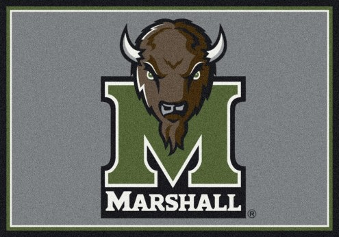 Marshall Thundering Herd College Team Spirit Area Rug