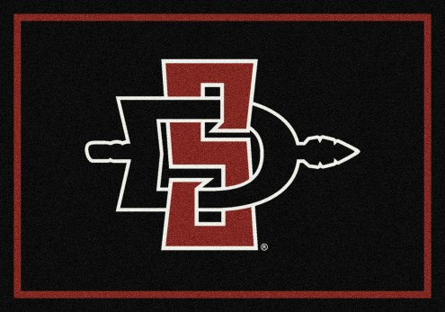 San Diego State Aztecs College Team Spirit Area Rug