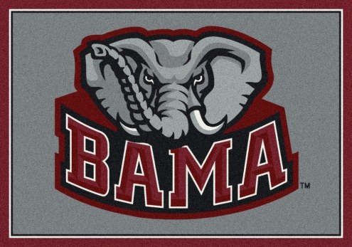 Alabama Crimson Tide College Team Spirit Area Rug