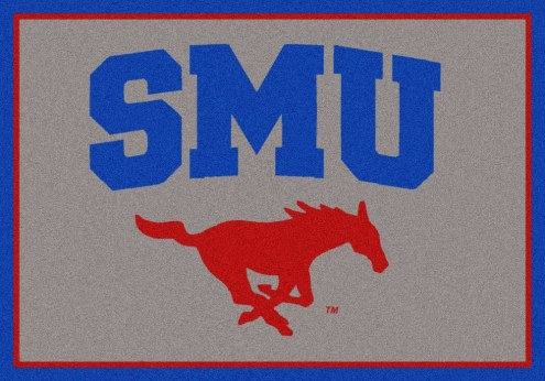 Southern Methodist Mustangs College Team Spirit Area Rug