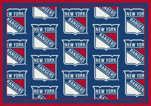 New York Rangers NHL Repeat Area Rug