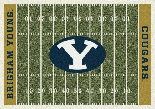 BYU Cougars College Home Field Area Rug