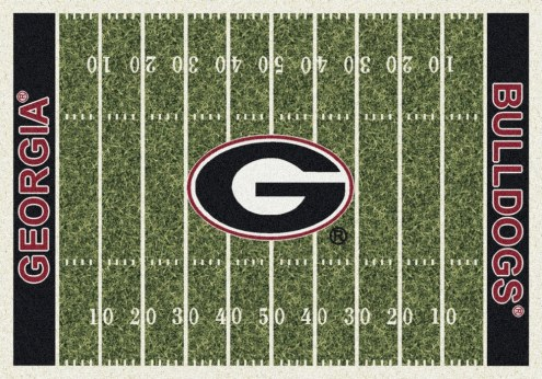 Georgia Bulldogs College Home Field Area Rug