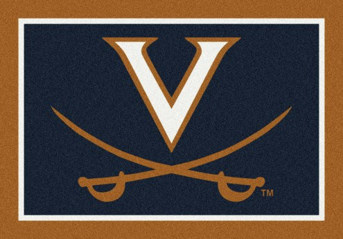 Virginia Cavaliers College Team Spirit Area Rug