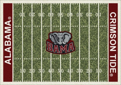 Alabama Crimson Tide College Home Field Area Rug