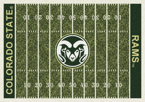 Colorado State Rams College Home Field Area Rug