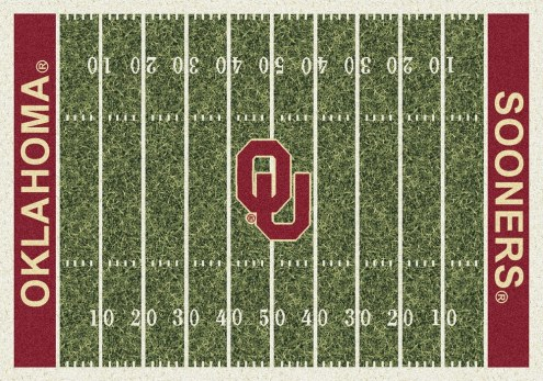 Oklahoma Sooners College Home Field Area Rug