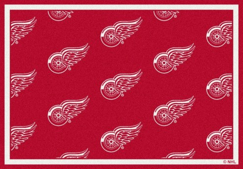 Detroit Red Wings NHL Repeat Area Rug