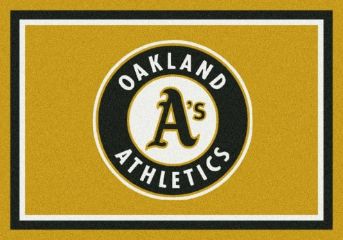 Oakland Athletics MLB Team Spirit Area Rug