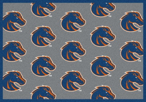 Boise State Broncos College Repeat Area Rug