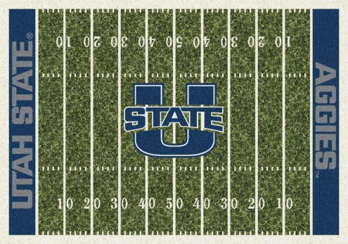 Utah State Aggies College Home Field Area Rug
