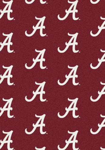 Alabama Crimson Tide College Repeat Area Rug