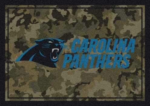 Carolina Panthers NFL Team Camo Area Rug