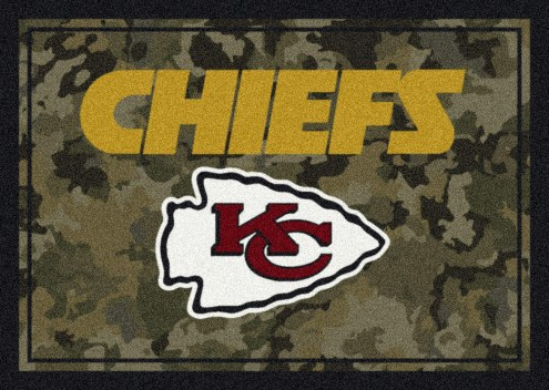Kansas City Chiefs NFL Team Camo Area Rug