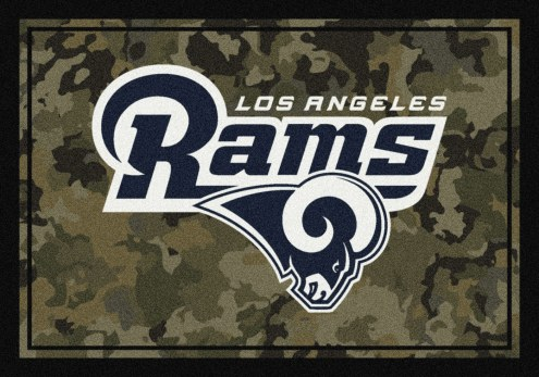 Los Angeles Rams NFL Team Camo Area Rug