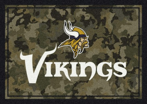 Minnesota Vikings NFL Team Camo Area Rug
