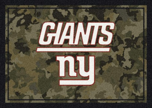 New York Giants NFL Team Camo Area Rug