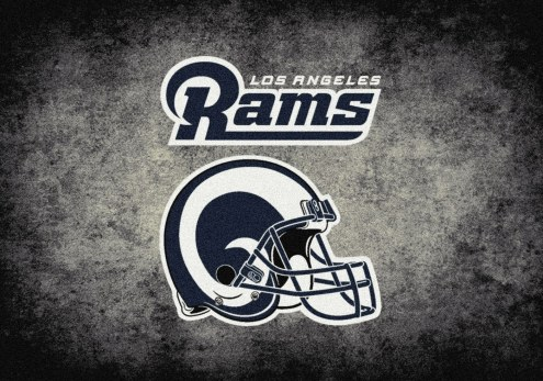 Los Angeles Rams NFL Team Distressed Area Rug