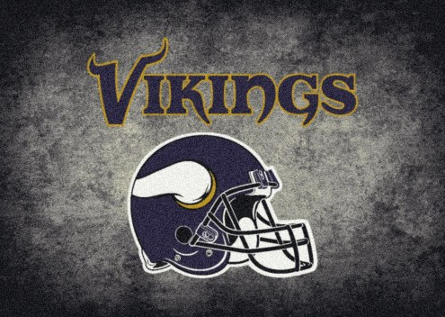 Minnesota Vikings NFL Team Distressed Area Rug