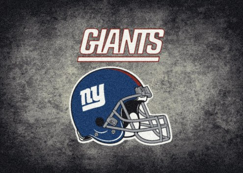 New York Giants NFL Team Distressed Area Rug