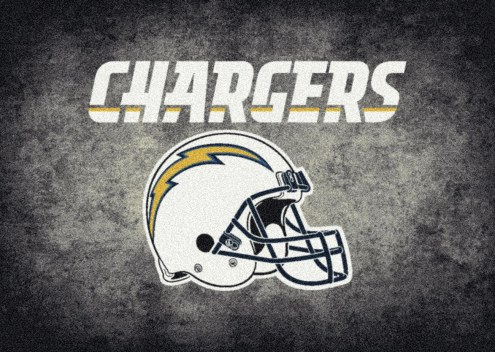 Los Angeles Chargers NFL Team Distressed Area Rug