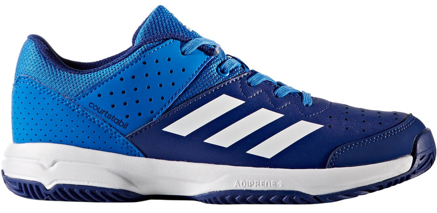 960f2b46eac adidas Court Stabil Jr Indoor Field Hockey Shoes Blue white 5. About this  product. Picture 1 of 2  Picture 2 of 2