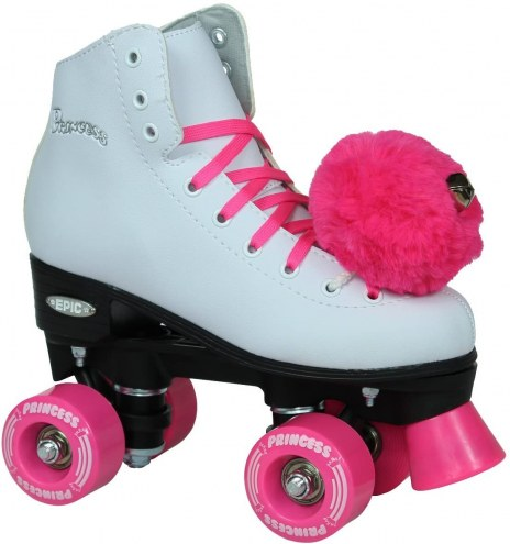 Epic Purple Princess Quad Roller Skates