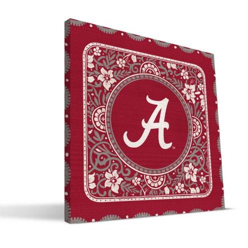 Alabama Crimson Tide Eclectic Canvas Print