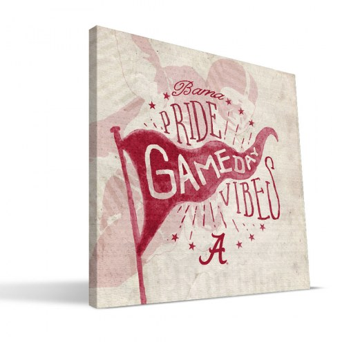 Alabama Crimson Tide Gameday Vibes Canvas Print