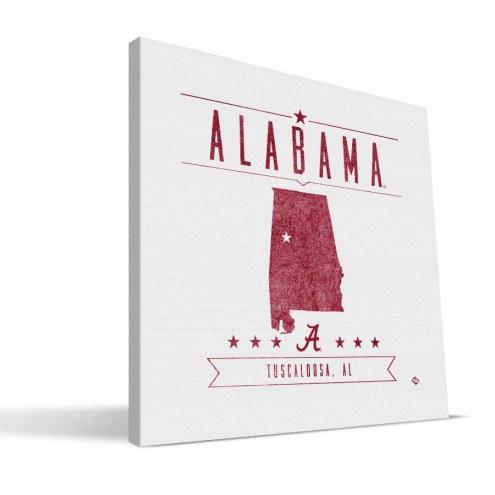 Alabama Crimson Tide Industrial Canvas Print