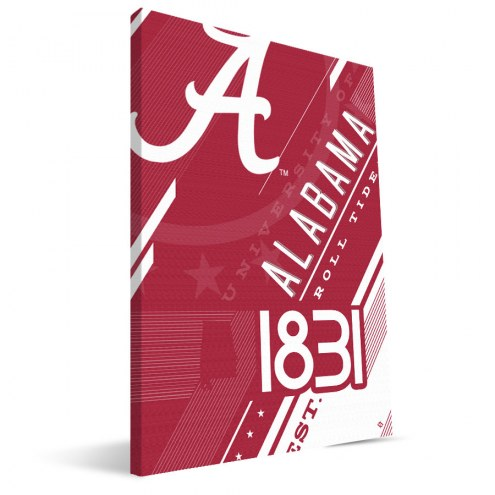 Alabama Crimson Tide Retro Canvas Print