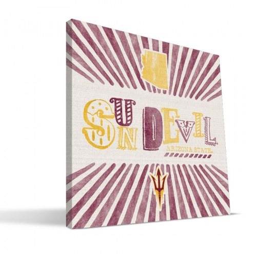 Arizona State Sun Devils State Canvas Print