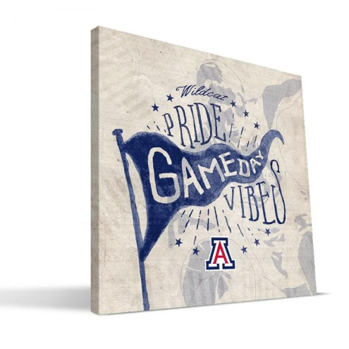 Arizona Wildcats Gameday Vibes Canvas Print