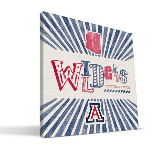 Arizona Wildcats State Canvas Print