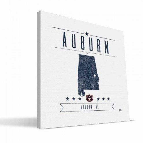 Auburn Tigers Industrial Canvas Print